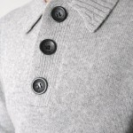 Luke 1977 grey chunky knitted lambswool jumper