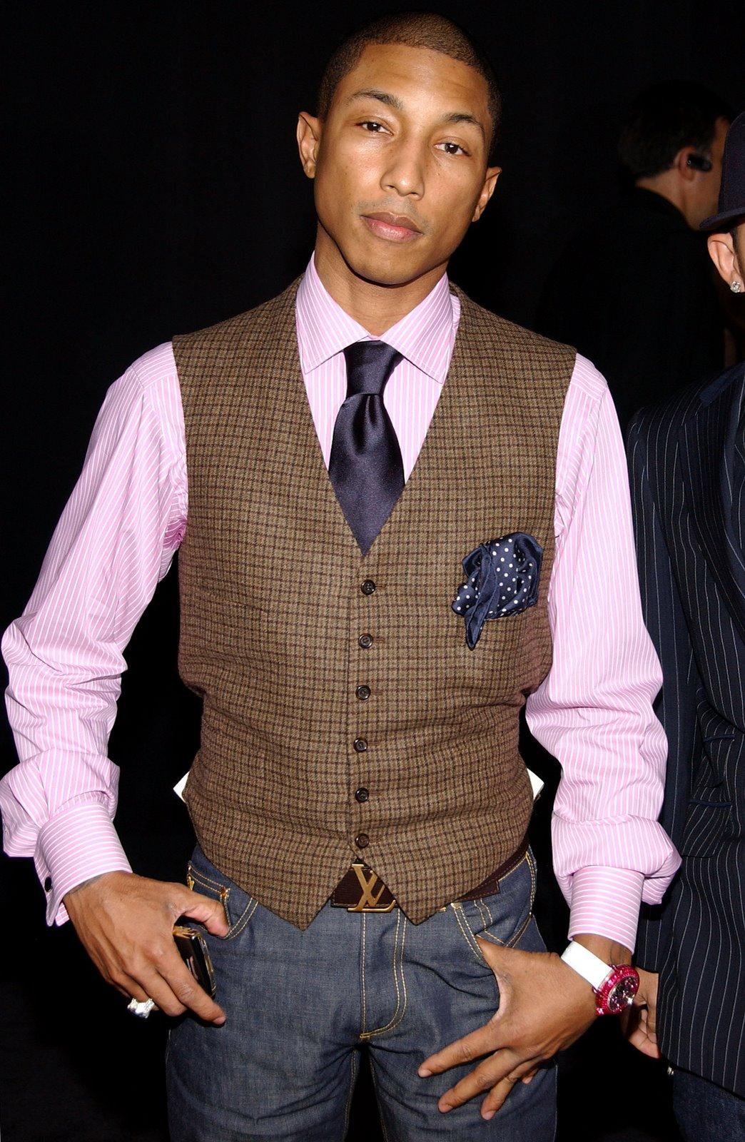 Pharrell Williams Louis Vuitton Party Look