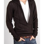 Unconditional Silk and Cashmere Deep Plunge Hoody - Thumbnail Image