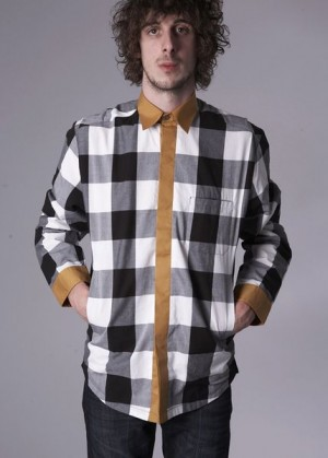 a.d.deertz | honey double layer plaid shirt - £85