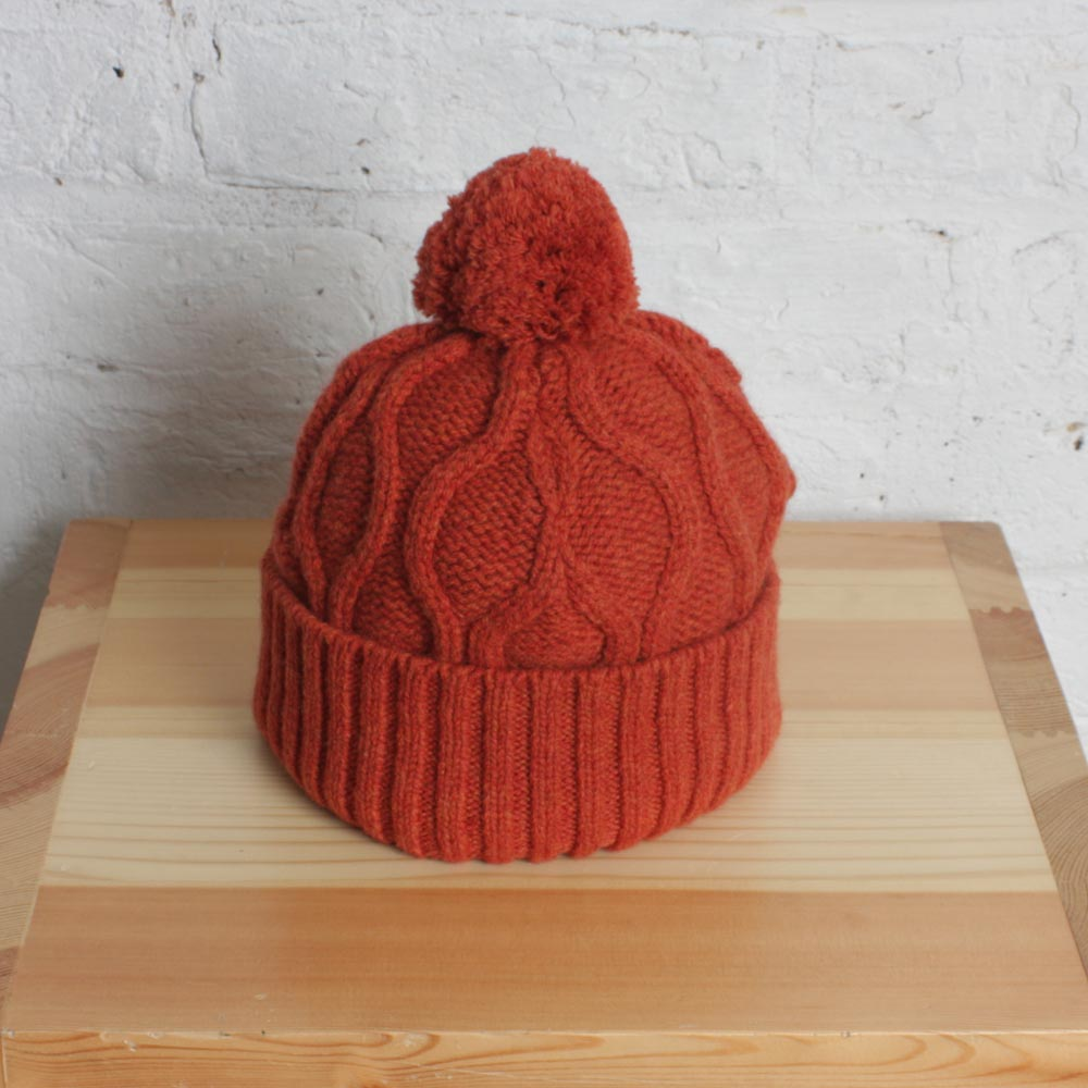 Loom Knit Cable Stitch Hat : Knit Cable Hat