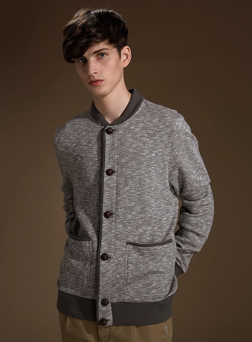 Topman button thru sweat jacket
