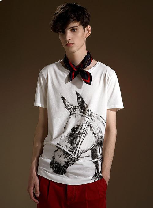 Topman horse print crew