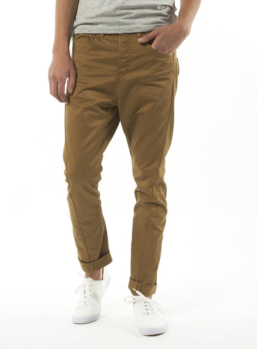 Topman mustard carrot fit chinos