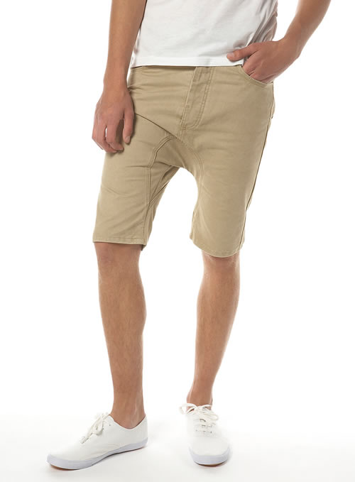 Topman stone cotton arc leg short