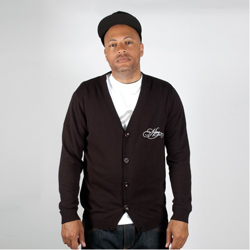King Apparel Heritage Cardigan Black