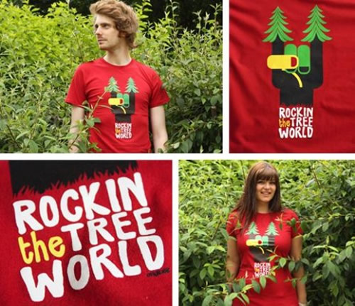 Origin68 Rockin The Tree World T-Shirts