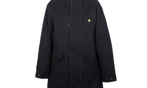 Pretty Green Fur Collar Parka