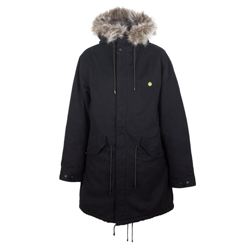 Pretty Green Green Collection Fur Collar Parka