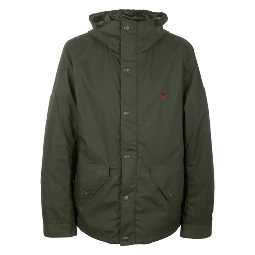 Pretty Green Green Collection Military Hooded Jacket